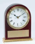 Piano Finish Mahogany Slanted Arch Clock Sales Awards